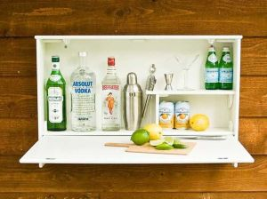 Wall attached bar
