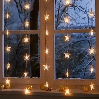 Christmas lights stars