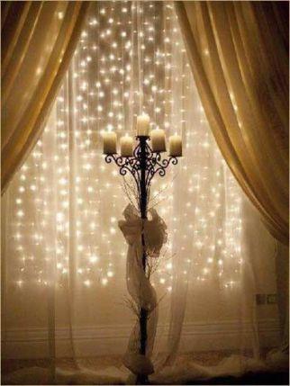 Christmas window white lights