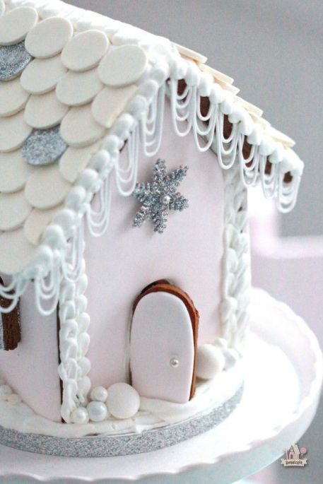Gingerbread house white
