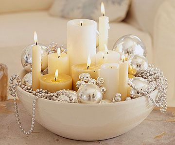 ornaments and candle