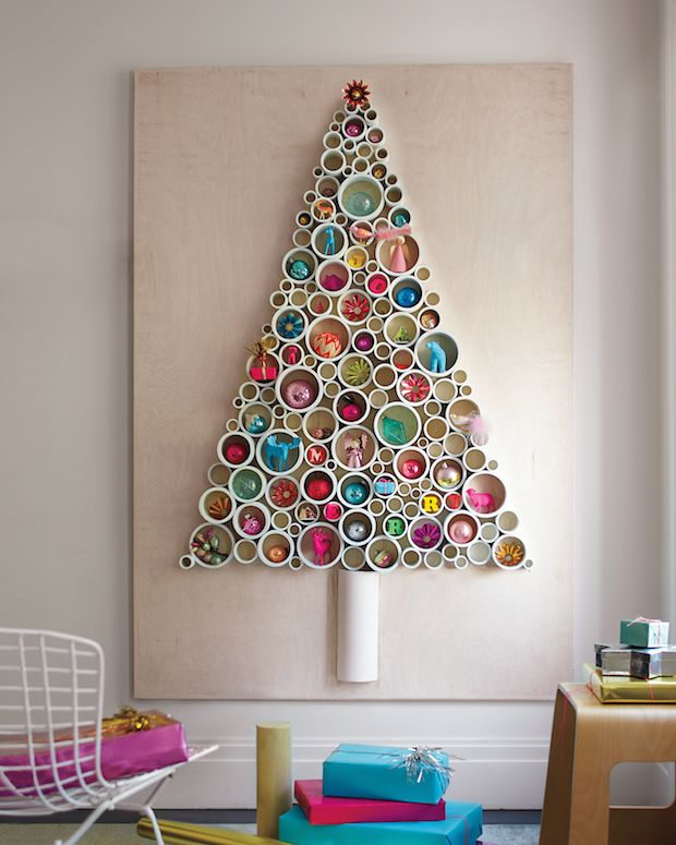 Wall Christmas tree circle